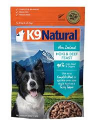 K9 Natural Dog Freeze Dried Beef Hoki 4 Lbs