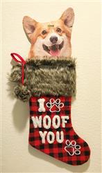 I Woof You Xmas Stocking