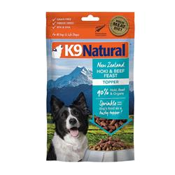 K9 Natural Dog Freeze Dried Topper Beef Hoki 5 Oz.