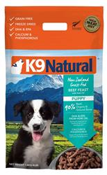 K9 Natural Dog Freeze Dried Pup Beef 4 Lbs