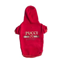 Red Pucci Dog Park Hoodie | Dog Clothing