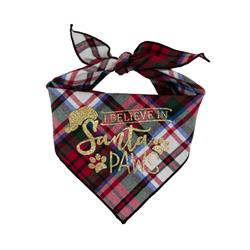 Christmas Dog Bandana - Plaid Flannel