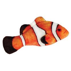 "3.5"" Clownfish Plush Fish Cat Toy by Kittybelles"