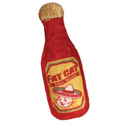 "4"" Fat Cat Hot Sauce Plush Cat Toy by Kittybelles"