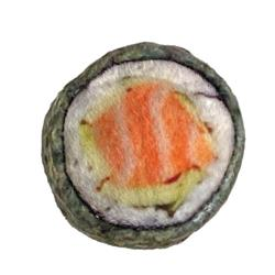 """1.75"""" Classic Sushi Plush Cat Toy by Kittybelles"""