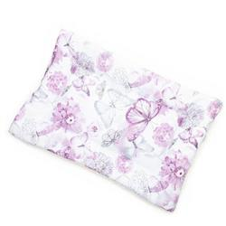 Purple Floral Cotton Fabric Flat Pet Bed