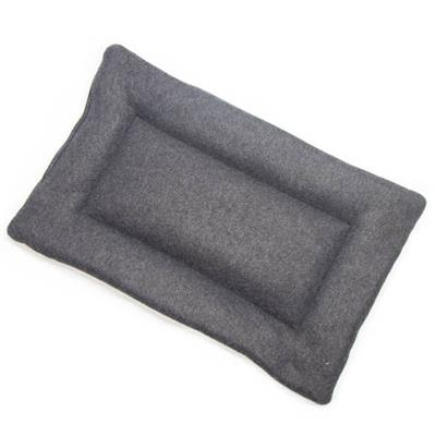 Charcoal Gray Solid Fleece Fabric Flat Pet Bed