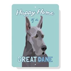 """Great Dane - (Cropped Ears) sign 9"""" x 12"""""""