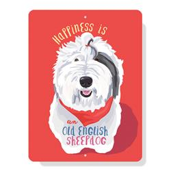 "Old English Sheepdog sign 9"" x 12"""