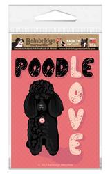 """Poodle (Black Dog) Magnet 3.56"""" x 4.75"""""""