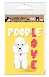 "Poodle (White Dog) Magnet 3.56"" x 4.75"""