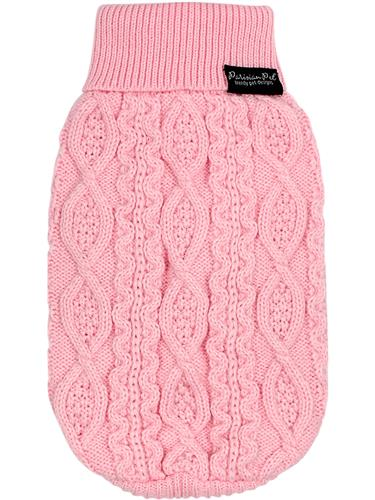 Cable Knit Sweater, Blush Pink