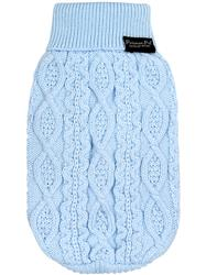 Cable Knit Sweater, Powder Blue