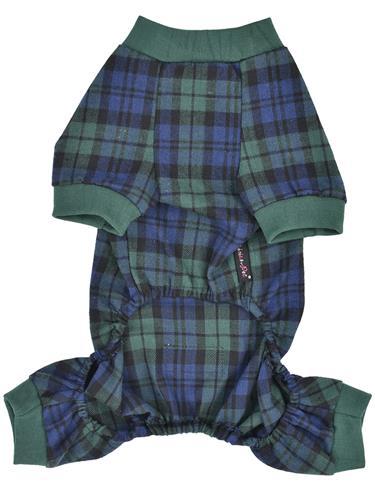 Scottish Pajama, Green/Blue Plaid