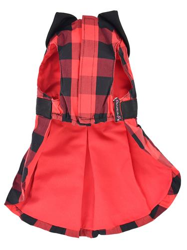 Buffalo Checkered Taffeta Dress, Red