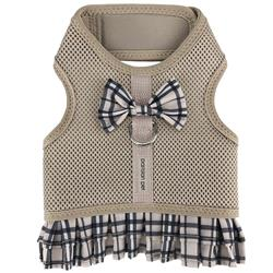 Khaki Plaid Harness Dress