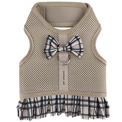Khaki Plaid Harness Dress
