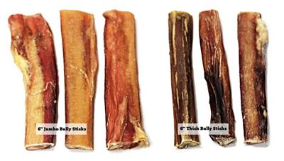 "6"" Odor Free Jumbo Bully Sticks"
