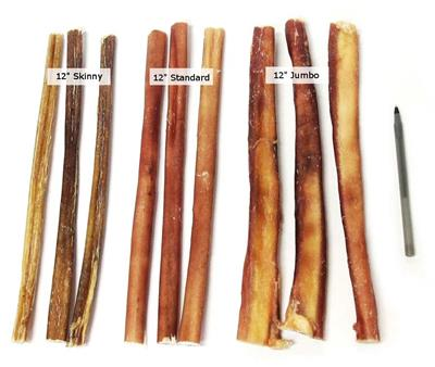 "12"" Odor Free Jumbo Bully Sticks"