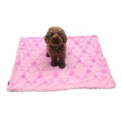 Medium Blanket, Embroidered Roses, Pale Pink