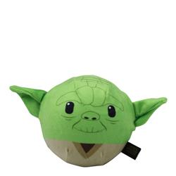 Star Wars Plush Yoda Ball Body Dog Toy | Soft Star Wars Squeaky Dog Toy