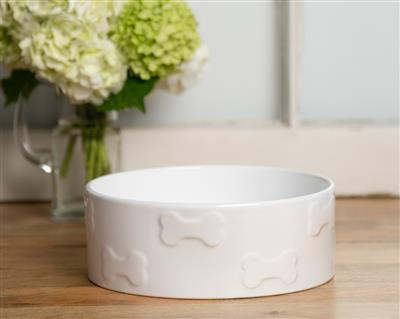 Manor White Pet Bowls