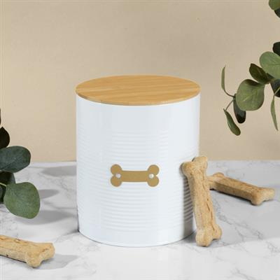 Hector White Treat Canister