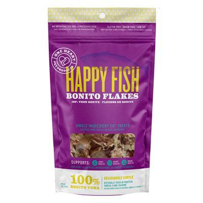 Happy Fish Bonito Flakes 1oz Cat Treats