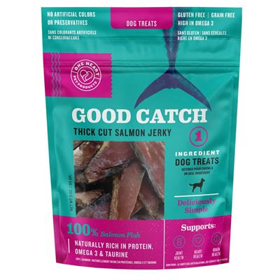 Good Catch Salmon Thick Cut Jerky 3oz Dog Treats