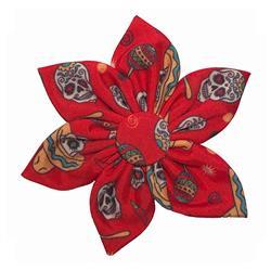 Red Skulls Pinwheel by Huxley & Kent