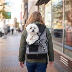 Bergan® Backpack Pet Carrier (Grey & Black)