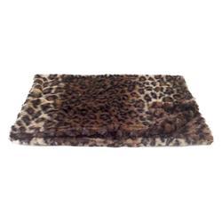Blanket, Dark Brown Leopard Medium