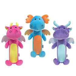 "fouFIT™ Dragon Plush Cruncher Toy (13.5"") - Case of 3"