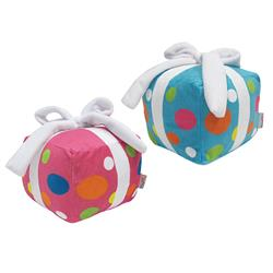 "fouFIT™ Birthday Present Plush Toy with Hidden Squeaker (6"") - Case of 3"