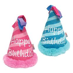 "fouFIT™ Birthday Hat Crinkle Plush Toy (7"") - Case of 3"