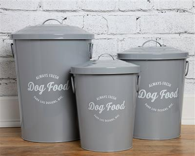 Andreas Grey Food Storage Canisters (set of 3)