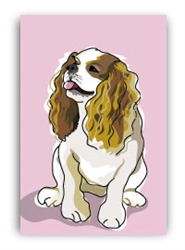 Cavalier Sitting - Fridge Magnet
