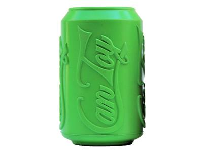 SodaPup - Natural Rubber Soda Can Shaped Dog Toy - Chew Toy - Treat Dispenser - Slow Feeder - for Aggressive Chewers - Made in USA - Green
