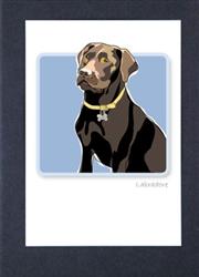 Labrador Retriever - Chocolate - Grrreen Boxed Note Cards