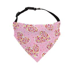 Valentines Day Dog Bandana Hearts Pink - Over the Collar Style in 5 Sizes |  BUY 10 GET 1 FREE