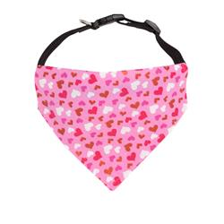 Valentines Day Hearts Dog Bandana  - Over the Collar Style in 5 Sizes |  BUY 10 GET 1 FREE