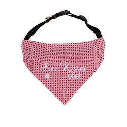 Valentines Day Dog Bandana Red Hearts  - Over the Collar Style in 5 Sizes |  BUY 10 GET 1 FREE