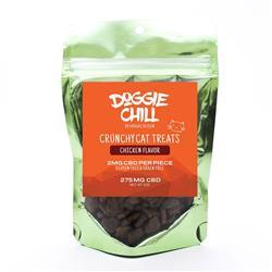 Doggie Chill Grain-Free CBD Crunchy Cat Treats - Chicken - 30-count 2-ounce bag