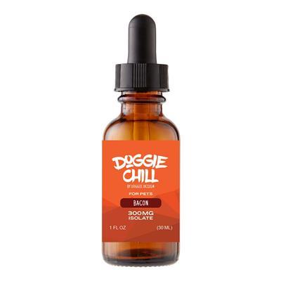 Doggie Chill CBD Isolate Oil for Pets - Bacon - 1 Fluid Ounce (30mL)