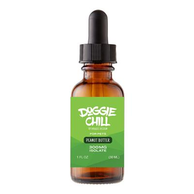 Doggie Chill CBD Isolate Oil for Pets - Peanut Butter - 1 Fluid Ounce (30mL)