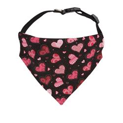 Valentines Day Dog Bandana Red Hearts - Over the Collar Style -5 Sizes |  BUY 10 GET 1 FREE