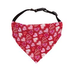 Valentines Day Dog Bandana Red, Pink Hearts - Over the Collar Style -5 Sizes |  BUY 10 GET 1 FREE