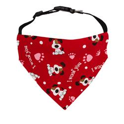 Valentines Day Dog Bandana - Over the Collar Style in 5 Sizes |  BUY 10 GET 1 FREE