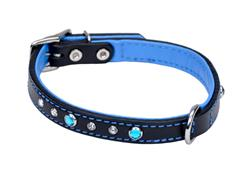 Circle T® Fashion Leather Dog Collar with Jewels