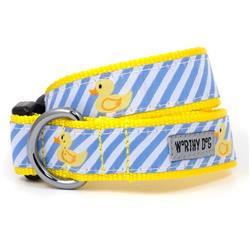 Lt Blue Stripe Rubber Duck Collar & Lead Collection